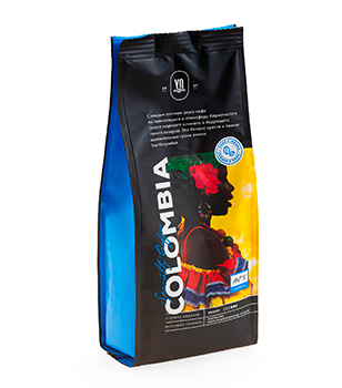 Whole-bean coffee. COLOMBIA