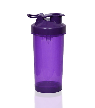 Purple shaker with flip lid, 400 ml