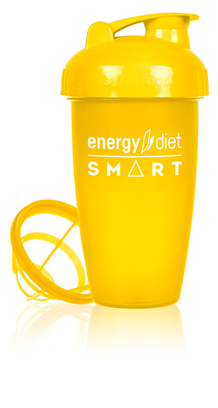 Yellow shaker cup with flip cap