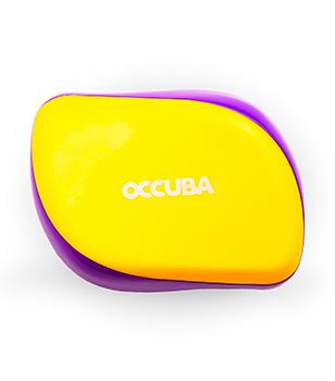 Расческа Occuba желто-фиолетовая