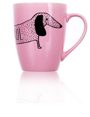 Кружка розовая «Собака»