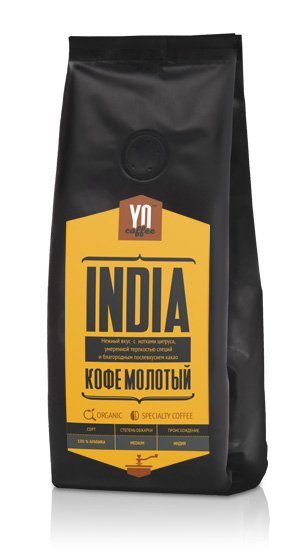 Ground coffee. INDIA