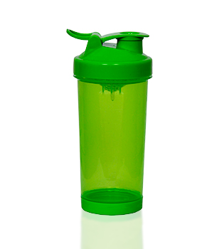Green shaker with flip lid, 400 ml