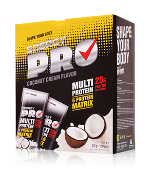 Multi protein. Coconut cream