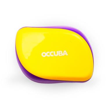 Occuba hairbrush yellow-purple