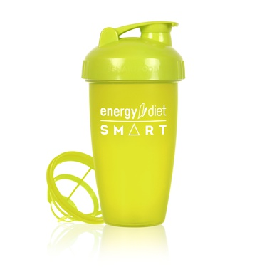Lime green shaker cup with flip cap