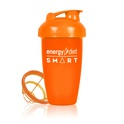 Orange shaker cup with flip cap