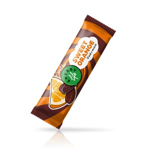 Fruit bar with dates and oranges