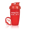 Red shaker cup with flip cap