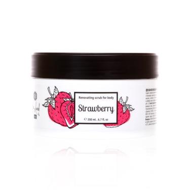 Обновляющий скраб для тела Strawberry (Клубника)