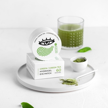 Hydrogel patches with camellia extract