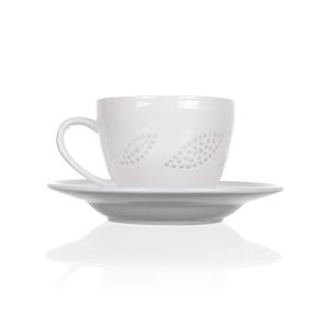 Tea cup and saucer set with petals