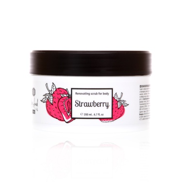 Strawberry (Қулупнай) тана учун янгиловчи скраб