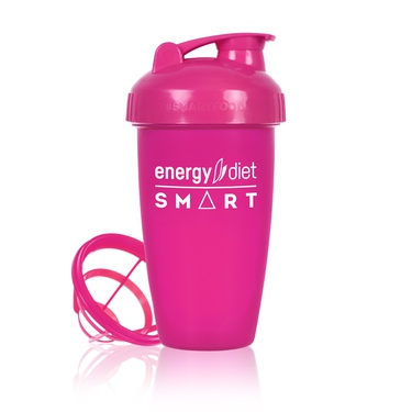 Pink shaker cup with flip cap