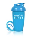 Blue shaker cup with flip cap
