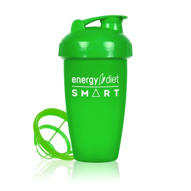 Green shaker cup with flip cap