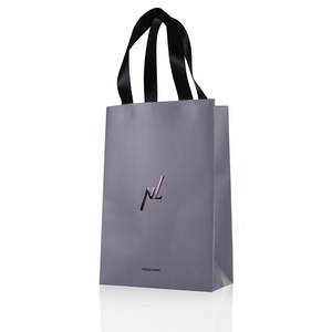 Gift bag, grey (medium)