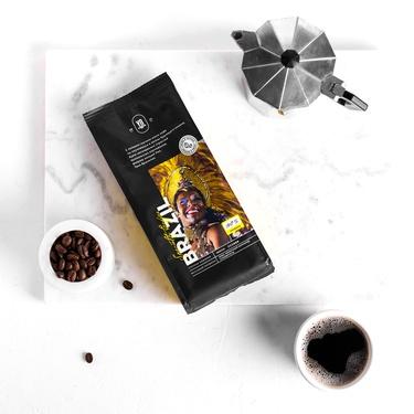 Whole-bean coffee. BRAZIL