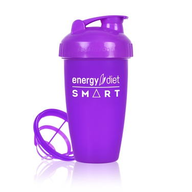 Purple shaker cup with flip cap